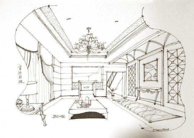 别墅简笔画